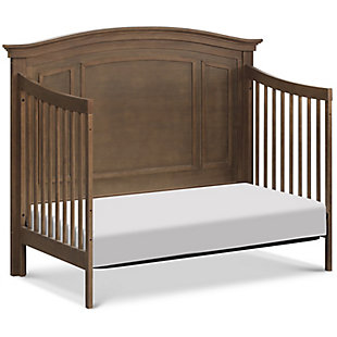 Durham 4-in-1 Convertible Crib with Toddler Bed Conversion Kit, Brown, large