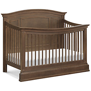 Million Dollar Baby Classic Durham 4-in-1 Convertible Crib with Toddler Bed Conversion Kit, Brown, large