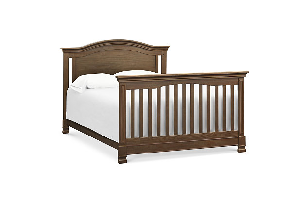 Million Dollar Baby Classic Louis 4-in-1 Convertible Crib with Toddler Bed Conversion Kit, Brown, large