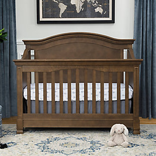 Million Dollar Baby Classic Louis 4-in-1 Convertible Crib with Toddler Bed Conversion Kit, Brown, rollover