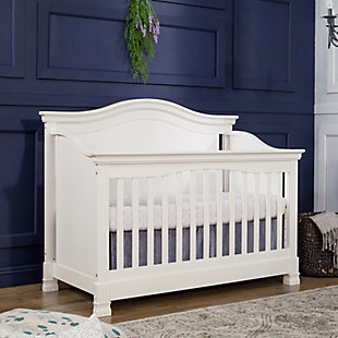 Million Dollar Baby Classic Louis 4-in-1 Convertible Crib with Toddler Bed Conversion Kit, White, large