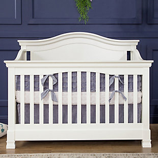 Million Dollar Baby Classic Louis 4-in-1 Convertible Crib with Toddler Bed Conversion Kit, White, rollover