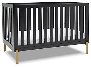 Delta Children Hendrix 4-in-1 Convertible Crib, Midnight Gray, large