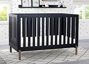 Delta Children Hendrix 4-in-1 Convertible Crib, Midnight Gray, rollover