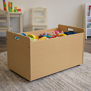 Kids Toy Box with Wheel, , rollover