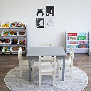 Kids Bookshelf 4 Tier Book Organizer, , rollover