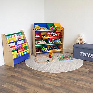 Kids Super Sized Bookshelf 6 Tier Book Organizer, , rollover