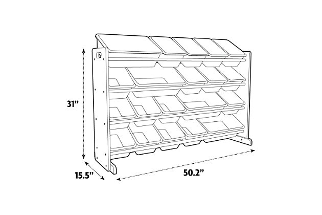 Kids Inspire Extra-Large Storage Organizer with 20 Bins, , large