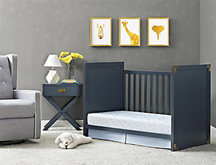 Baby Relax Miles 2-in-1 Convertible Crib, Blue, large