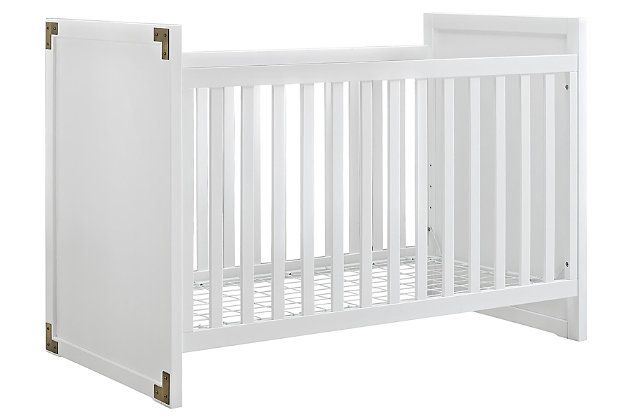 Baby Relax Miles 2-in-1 Convertible Crib, White, large