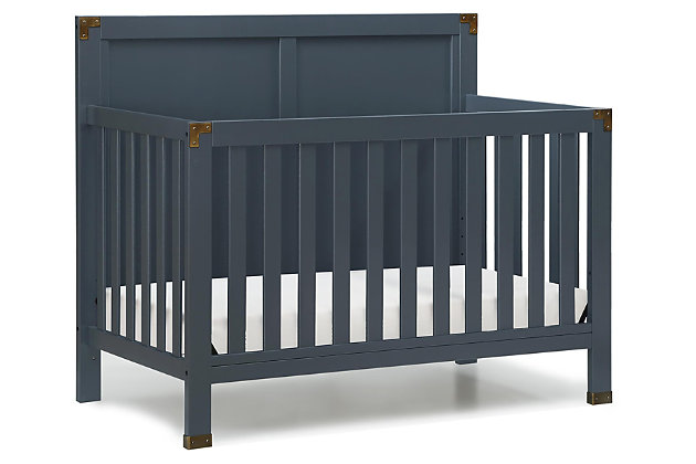 Baby Relax Miles 5-in-1 Convertible Crib, Blue, large