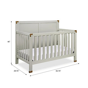 Baby Relax Miles 5-in-1 Convertible Crib, Gray, large