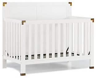 Baby Relax Miles 5-in-1 Convertible Crib, White, large