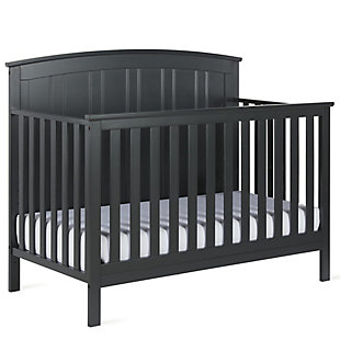 Baby Relax Colton 5-in-1 Convertible Crib, Gray, rollover