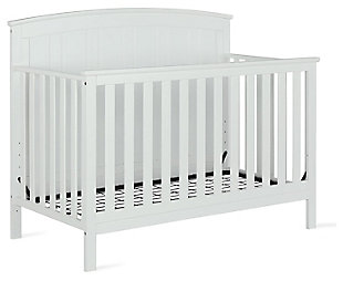 Baby Relax Colton 5-in-1 Convertible Crib, White, large