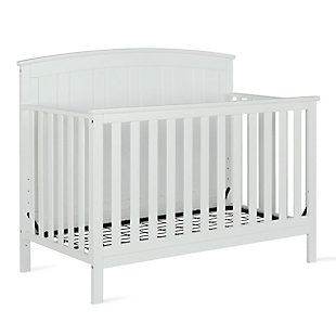 Baby Relax Colton 5-in-1 Convertible Crib, White, rollover