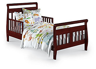 Baby Relax Sleigh Toddler Bed, Red, large
