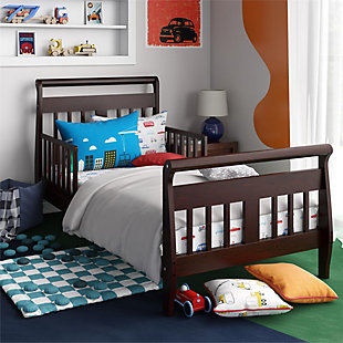 Baby Relax Sleigh Toddler Bed, Brown, rollover