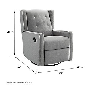 Baby Relax Mikayla Nursery Swivel Glider Recliner Chair, , large