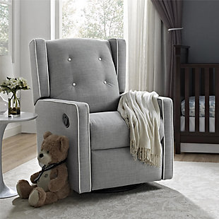 Baby Relax Mikayla Nursery Swivel Glider Recliner Chair, , rollover
