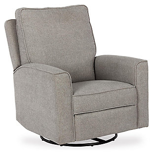 Baby Relax Jasmin Nursery Swivel Glider Recliner Chair, Gray, large