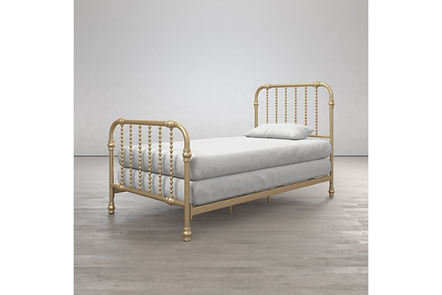 Little Seeds Monarch Hill Wren Metal Bed, Metallic, large