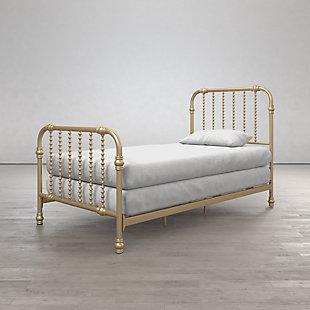 Little Seeds Monarch Hill Wren Metal Bed, Metallic, rollover
