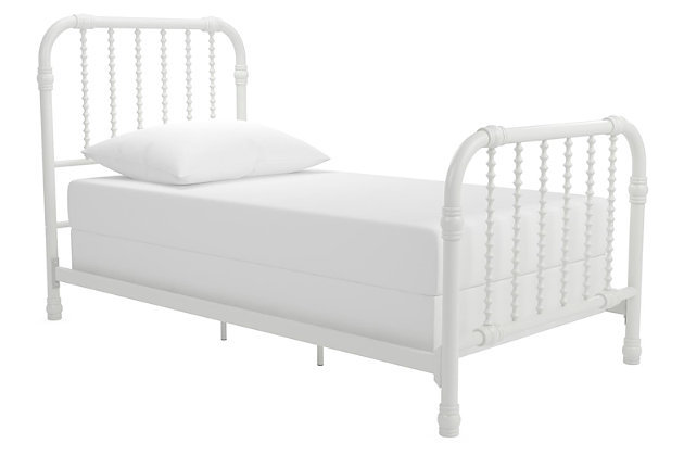 Little Seeds Monarch Hill Wren Metal Bed, White, large