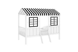 Little Seeds Rowan Valley Forest Loft Bed, White/Black, rollover