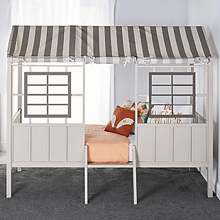 Little Seeds Rowan Valley Forest Loft Bed, Gray, rollover