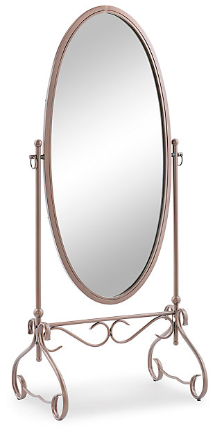 Linon Leah Metal Mirror, , large