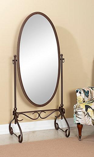 Linon Leah Metal Mirror, , rollover