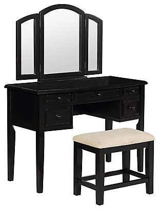 Powell Traditional Vanity Set, , large