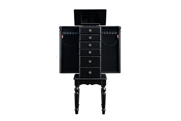 Powell Six Drawer Jewelry Armoire, , large