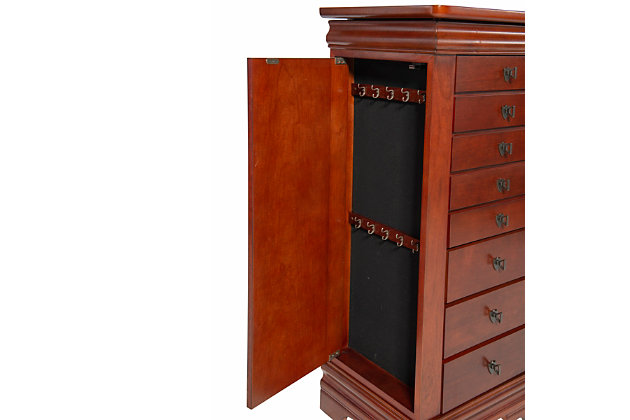 Powell Flip-top Jewelry Armoire, , large