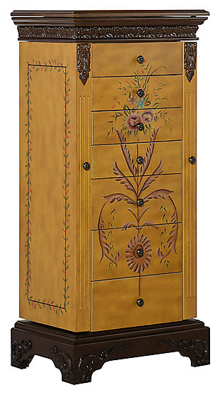 Powell Hand Painted Jewelry Armoire, , large
