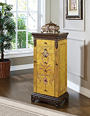 Powell Hand Painted Jewelry Armoire, , rollover