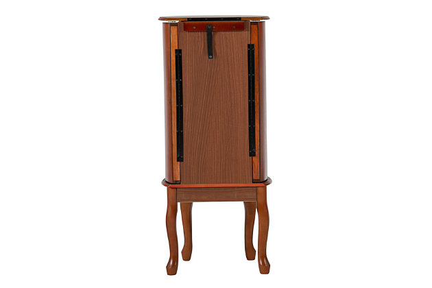 7 Drawer Jewelry Armoire, Woodland Cherry Finish, large