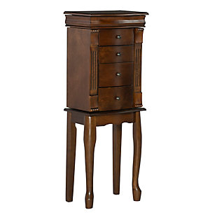 Powell Four Drawer Jewelry Armoire, , rollover