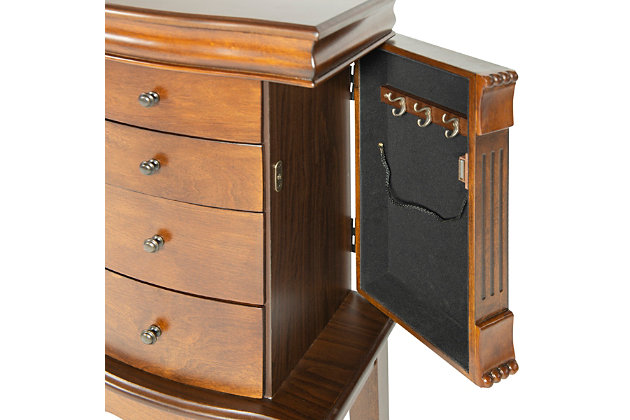 Powell Four Drawer Jewelry Armoire, , large