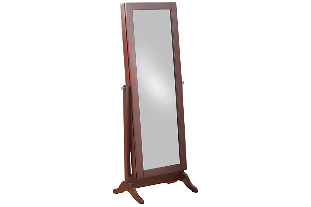 Full Length Sliding Mirror Jewelry Armoire, , large