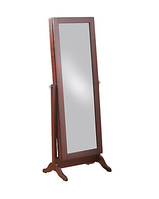 Full Length Sliding Mirror Jewelry Armoire, , rollover