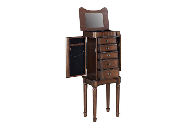 Powell Flip Up Lid Jewelry Armoire, , large