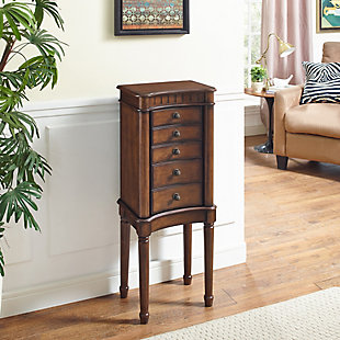 Powell Flip Up Lid Jewelry Armoire, , rollover