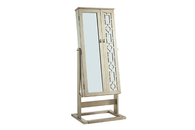 Powell Shimmer Cheval Mirror Ashley, Ashley Furniture Jewelry Armoire