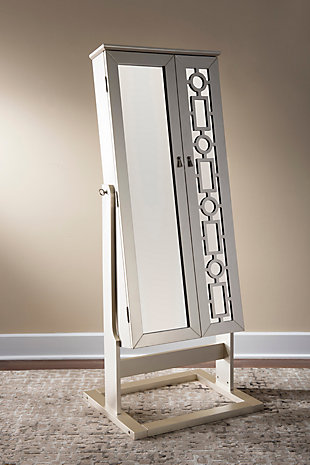 Powell Shimmer Cheval Mirror, , rollover
