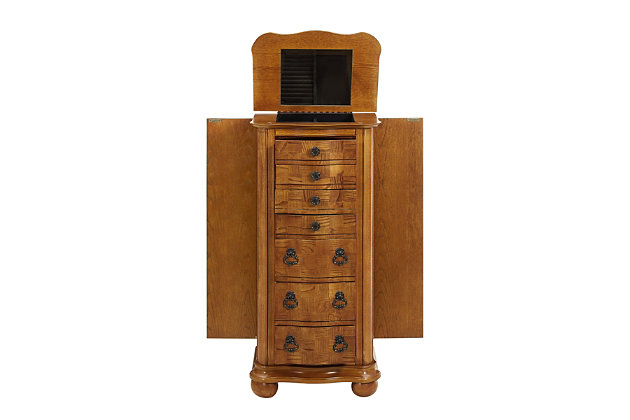 Powell Jewelry Armoire with Flip Top, , large