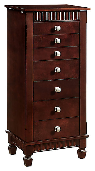 Powell Fluted Jewelry Armoire, , large