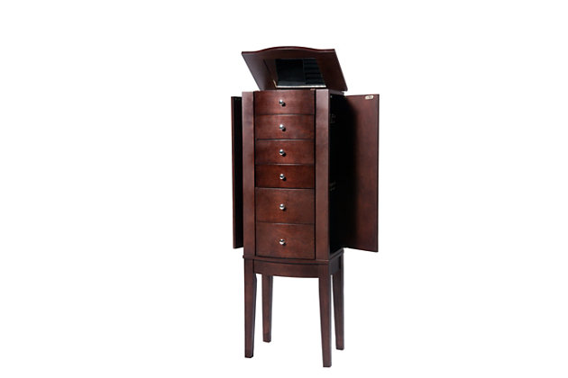 Powell Flip top Jewelry Armoire, , large
