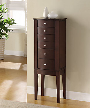 Powell Flip top Jewelry Armoire, , rollover